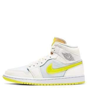 Nike Jordan 1 Mid SE Voltage Yellow Sneakers US 9W EU 40.5