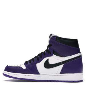 Nike Jordan 1 Retro High Court Purple White Sneakers Size EU 37.5 (US 5Y)