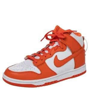 حذاء رياضي نايك هاي سيراكيوز جلد برتقالي / أبيض مقاس 40