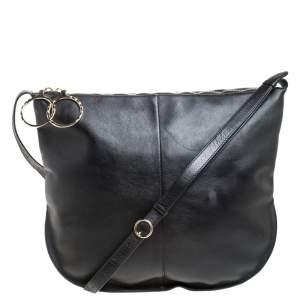 Nina Ricci Black Leather Large Kuti Hobo with Purse