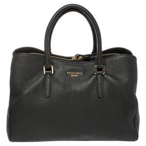 Nina Ricci Black Leather Zipped Tote