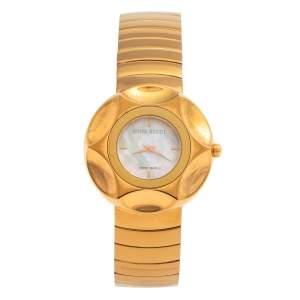 Nina Ricci White Mother Of Pearl PVD Coated Stainless Steel N024.53 Women's Wristwatch 37 MM