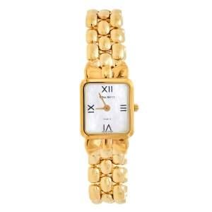 ساعة يد نسائية نينا ريتشي D950  ستانلس ستيل مطلي ذهبي و صدف 18 مم