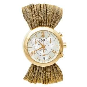 Nina Ricci Silver Gold Tone Stainless Steel N021.45 Women's Wristwatch 31 mm