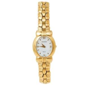 Nina Ricci Mother of Pearl Gold Plated Stainless Steel S959 Women's Wristwatch 22 mm