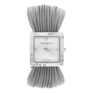 ساعة يد نسائية نينا ريتشي N019.12  ألماس ستانلس ستيل صدف 24 مم
