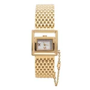 ساعة يد نسائية نينا ريتشي N022.43 ستانلس ستيل ذهبي اللون فضية 28.5 مم