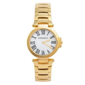 Nina Ricci Mother of Pearl Gold Plated Classic N053008SM Women's Wristwatch 35 mm