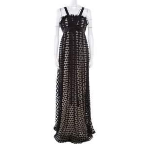 فستان نوتي باي ماركيزا تفاصيل فيونكة تول تنقيط بولكا أسود M