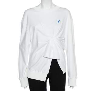 Off-White White Cotton Knot Detail Sweatshirt M