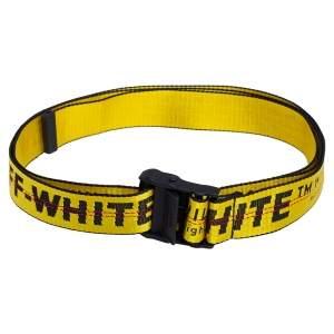 Off-White Yellow/Black Nylon Industrial Belt 200 CM