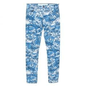 Off-White Blue Tapestry Print Denim Skinny Jeans M