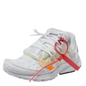 Off-White x Nike Fabric And Rubber Air Presto Lace Up Sneakers Size 38.5