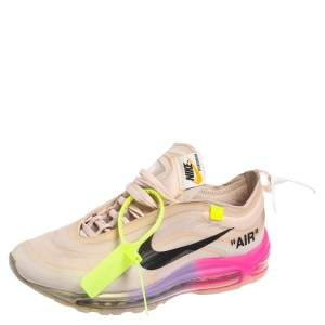 Off White x Nike Elemental Rose Mesh Air Max 97 OG Queen Sneakers Size 40