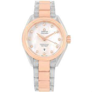 Omega MOP 18K Sedna Gold and Stainless Steel Aqua Terra 231.20.34.20.55.001 Women's Wristwatch 34MM