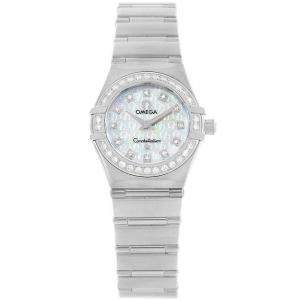 Omega MOP Stainless Steel Diamond Constellation '95 1460.75.00 Women's Wristwatch 22.5MM
