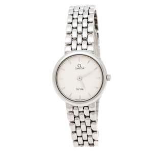 Omega Silver White Stainless Steel De Ville 795.1111 Women's Wristwatch 23 mm