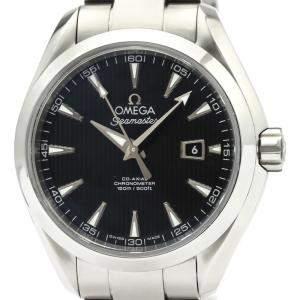 Omega Black Stainless Steel Seamaster Aqua Terra 231.10.34.20.01.001 Women's Wristwatch 34MM