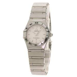 Omega White Stainless Steel Mini Constellation 1562.3 Women's Wristwatch 23 MM
