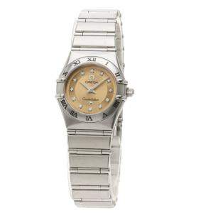 Omega Pink Stainless Steel Diamond Cindy Crawford Constellation 1564.65 Women's Wristwatch 23.5 mm