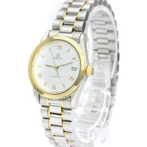 Omega White 18K Yellow Gold And Stainless Steel Classic Automatic 566.0285 Women's Wristwatch 26 MM