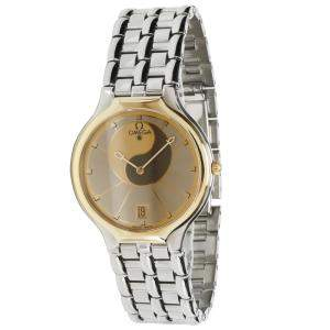 Omega Gray Gold Tone Stainless Steel Symbol 196.0316 Women's Wristwatch 32 MM