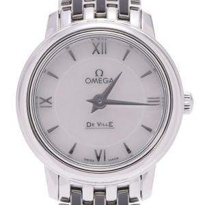 Omega MOP Stainless Steel De Ville Prestige 424.10.24.60.05.001 Women's Wristwatch 24 MM