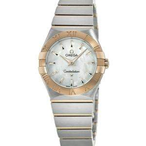 Omega MOP 18K Rose Gold And Steel Constellation 123.20.24.60.05.001 Women's Wristwatch 24 MM