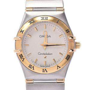 Omega White Yellow Gold And Stainless Steel Constellation 1262.30 Women's Wristwatch 23 MM
