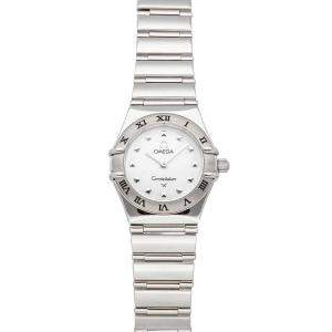 Omega MOP Stainless Steel Constellation My Choice Mini 1561.71.00 Women's Wristwatch 22.5 MM