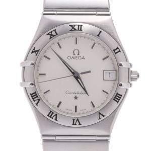"""ساعة يد نسائية أوميغا """"كونستلاشون 1512.30.00"""" ستانلس ستيل فضية 33.5 مم"""