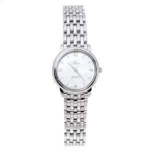 Omega Mother Of Pearl Stainless Steel De Ville Prestige 424.10.27.60.05.001 Women's Wristwatch 27.40 mm