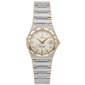 Omega Silver 18K Yellow Gold And Stainless Steel Constellation 1392.30.00 Women's Wristwatch 27.5 MM