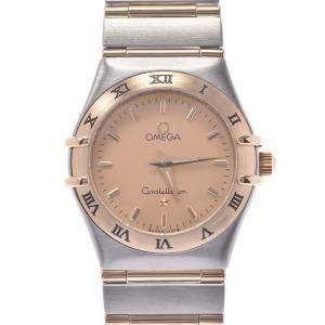 ساعة يد نسائية أوميغا كونستليشن 1262.10  ستانلس ستيل وذهب أصفر عيار 18 شانباتيا 24 مم