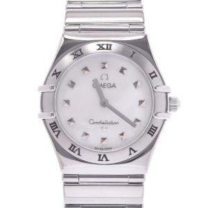 Omega MOP Stainless Steel Constellation 1571.71 Quartz Women's Wristwatch 25 MM