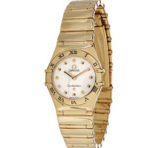 Omega MOP 18K Yellow Gold Constellation Women's Wristwatch 23 MM