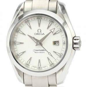 Omega Silver Stainless Steel Seamaster Aqua Terra 231.10.30.61.02.001 Women's Wristwatch 30 MM