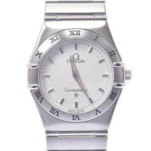 Omega Silver Stainless Steel Constellation 1572.30 Quartz Women's Wristwatch 25 MM