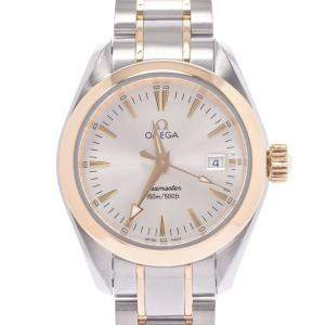 Omega Silver 18K Yellow Gold And Stainless Steel Seamaster Aqua Terra 150m 2377.50 Automatic Women's Wristwatch 28 MM