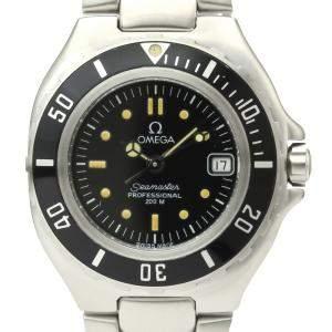 ساعة يد نسائية أوميغا سيماستر 2880.50 كوارتز ستانلس ستيل سوداء 30 مم