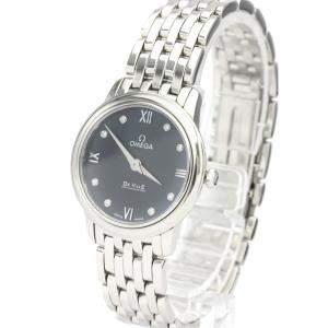 Omega Blue Stainless Steel De Ville 424.10.27.60.53.001 Quartz Women's Wristwatch 27 MM