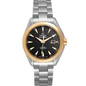 Omega Black 18K Yellow Gold And Stainless Steel Seamaster Aqua Terra 231.20.34.20.01.004 Women's Wristwatch 33.5 MM