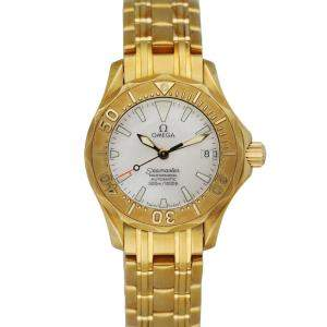 Omega MOP 18K Yellow Gold Seamaster Women's Wristwatch 28 MM