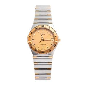 Omega 18K Yellow Gold & Stainless Steel Constellation 1212.10.00 Women's Wristwatch 33.5 mm