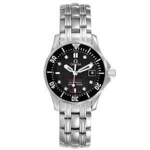 Omega Black Diamonds Stainless Steel Seamaster 212.30.28.61.51.001 Women's Wristwatch 28 MM
