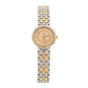 Omega Two-Tone Stainless Steel De Ville Prestige 795.1471 Women's Wristwatch 23 mm