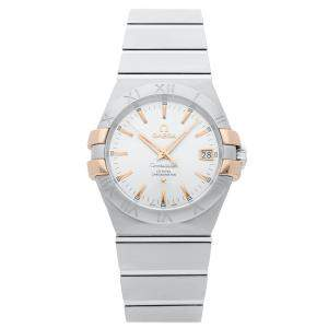 Omega Silver Stainless Steel Constellation 123.20.35.20.02.003 Women's Wristwatch 35 MM