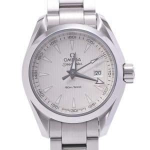 Omega Silver Stainless Steel Seamaster Aqua Terra 231.10.30.60.02.001 Quartz Women's Wristwatch 29 MM