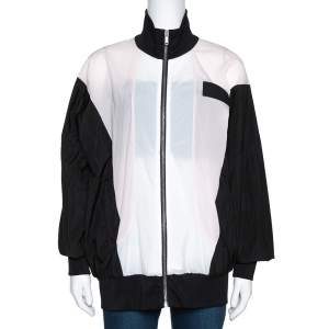 Palm Angels Color Block Zip Front Track Jacket S