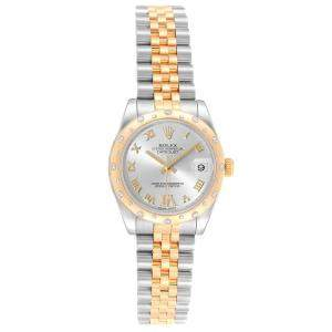 Rolex Silver 18K Yellow Gold Diamond and Stainless Steel Datejust 178343 Women's Wristwatch 31MM